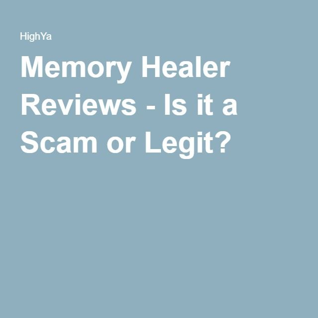 Memory Healer Reviews - Is it a Scam or Legit?