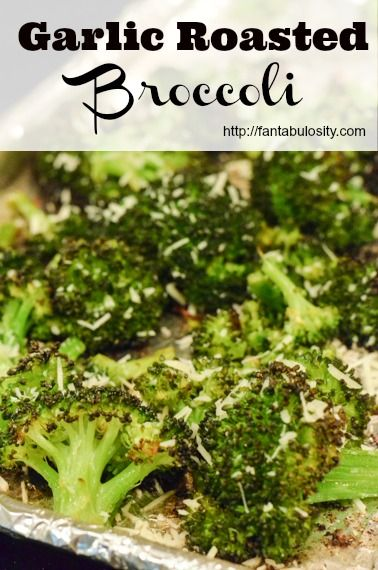 This Garlic Roasted Broccoli is one of my favorite healthy side dishes of all time! So quick and easy! My husband even begs me to make this!
