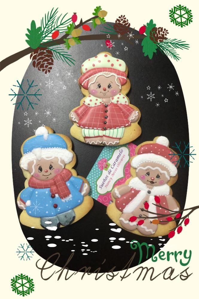 Gingerbread Girl Friends, cookies by Sueños de Caramelo