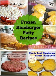 Frozen Hamburger Patty Recipes ~ Super easy!