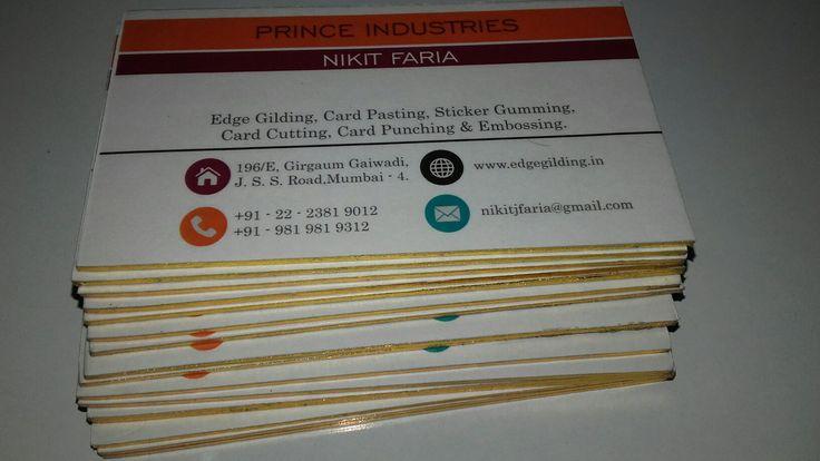 PRINCE INDUSTRIES #Edge gilding #Golden #visiting card #Mumbai #Gaiwadi #Prince Industries
