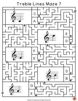 Treble Pitch Music Mazes!  For each question box in the maze there are two answer boxes. If the correct answer is selected, the maze leads to the next question box, but if the incorrect answer is chosen, the maze leads to a dead end.         ♫  CLICK through to preview or repin for later!   ♫