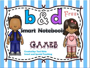 Here are free dyslexia activities in a Smart Notebook Activity File that will help students with b and d confusion. Great  for beginning readers too.