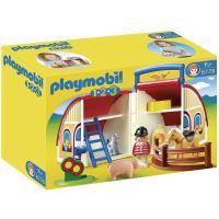 Figurine - Personnage PLAYMOBIL 1.2.3. 6778 Ferme Transportable