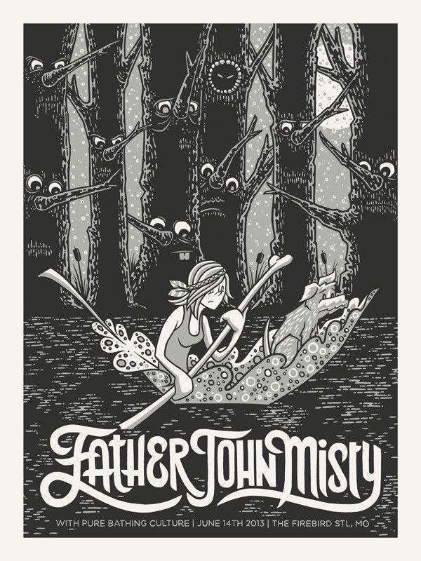 FATHER JOHN MISTY- ST. LOUIS, MO GIG POSTER – Indie Vinyl Den