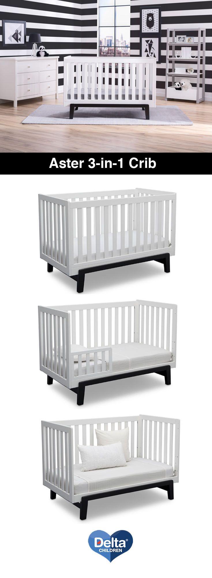 Used crib for sale dallas - Delta Children Aster 3 In 1 Convertible Crib Bianca With Ebony