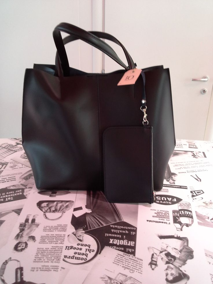 Total black #news #bag #treviso #black #borsa #veneto #handmade