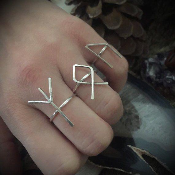 Silver Rune Twig Ring - TWG36640