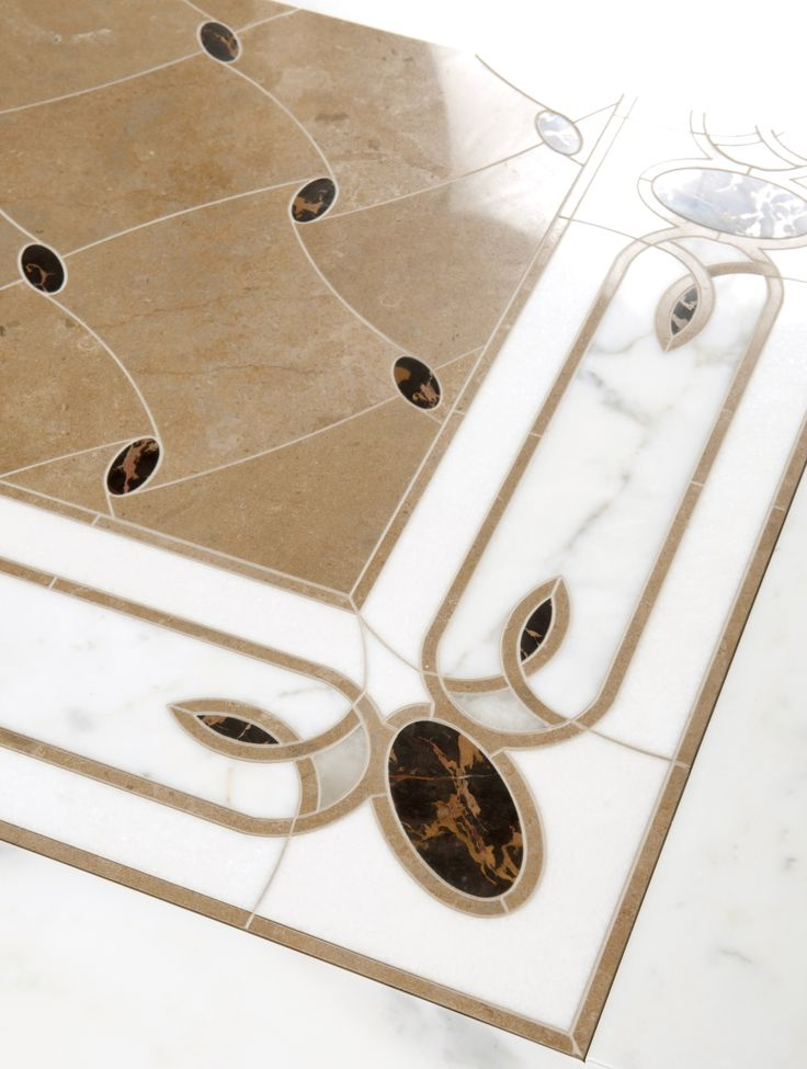 Carlyle border - Water jet  Vanderbilt - Wter jet  by Mosaique Surface
