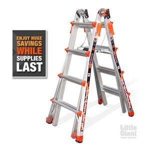 Official Little Giant Ladder online retailer. Factory-direct pricing. Free shipping, no sales tax, and lifetime warranty. Buy today and save!