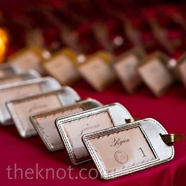 Luggage Tag Escort Cards Place Cards And Seating Charts