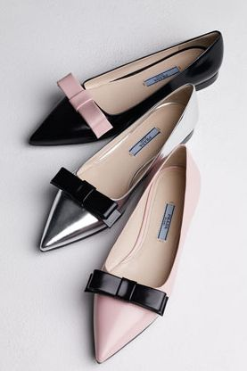 pretty pradra bow flats but looks just like my ferragamo's