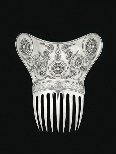 Tiffany & Company  - Ornamental Hair Comb ca. 1890. Sterling silver. | Virginia Museum of Fine Arts