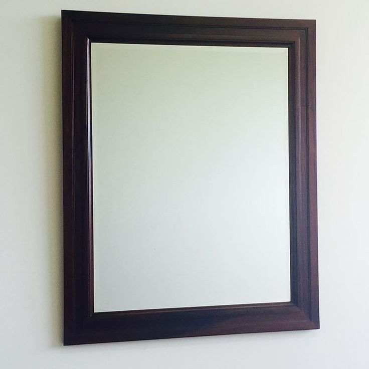 Antique Style Solid Mahogany Wood Bevelled Glass Mirror 220/100