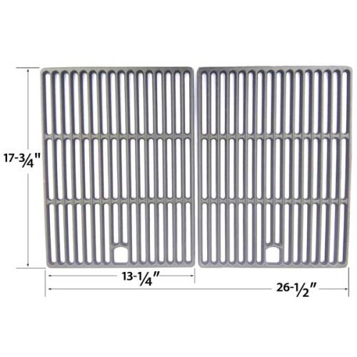 2 PACK CAST IRON COOKING GRID FOR UNIFLAME GBC621C, GBC621CR-C, GBC730W, GBC730W-C, GBD621CR-C AND XPS DXH8303 GAS GRILL MODELS Fits Compatible GREAT OUTDOORS Models : D450 , DC450 , DG450, Pinnacle TG475-2