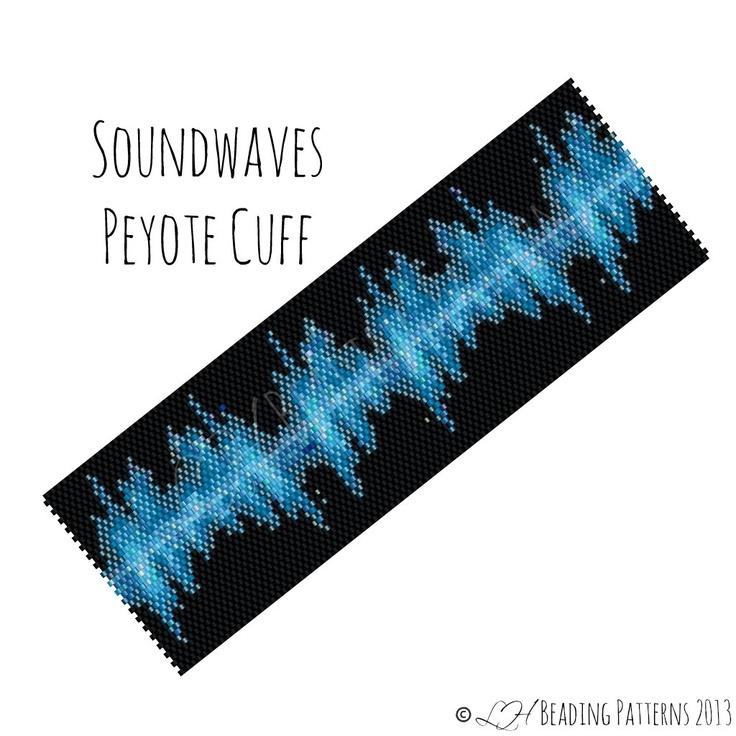 Beadweaving Bracelet Pattern, Soundwaves Peyote Cuff Pattern, Digital PDF Pattern - Buy 4 get 1 FREE - Instant Download. $8.00, via Etsy.