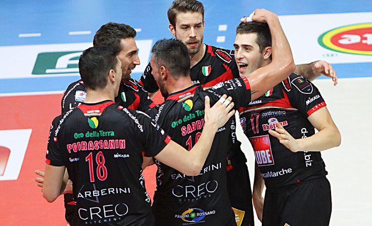 Jiri Kovar e i compagni della Lube Volley.