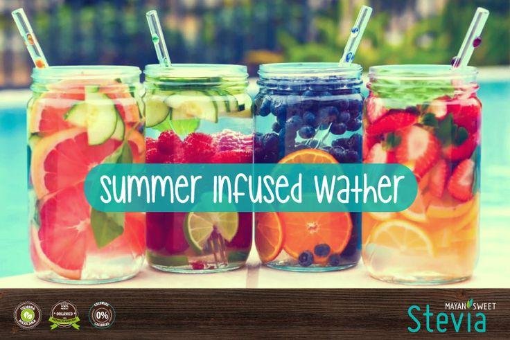 Les traemos esta rica idea para infusionar agua con frutas ;D #Organicos #SummerRecipess #HealthySummer INSTRUCCIONES: 1) Coloca todas las frutas y verduras en una jarra de vidrio. 2) Agrega el agua, y dejar en infusión durante dos horas. 3) Endulza con STEVIA MAYAN SWEET o con ACEITE DE COCO MAYAN SWEET STEVIA si prefieres un sabor mas tropical. Consume orgánico y natural... #MayanSweetStevia