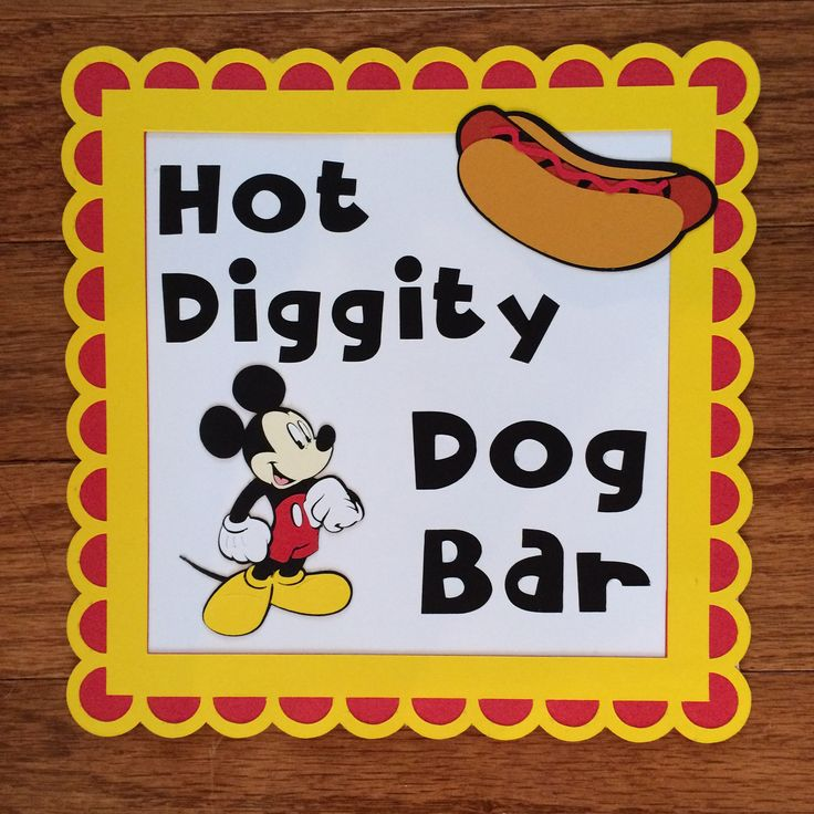 Mickey Mouse Hot Diggity Dog Sign