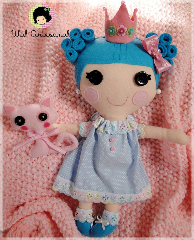 Quirky Artist Loft: Handmade Lalaloopsy Rag Dolls Love the crown and all details. Wonderful