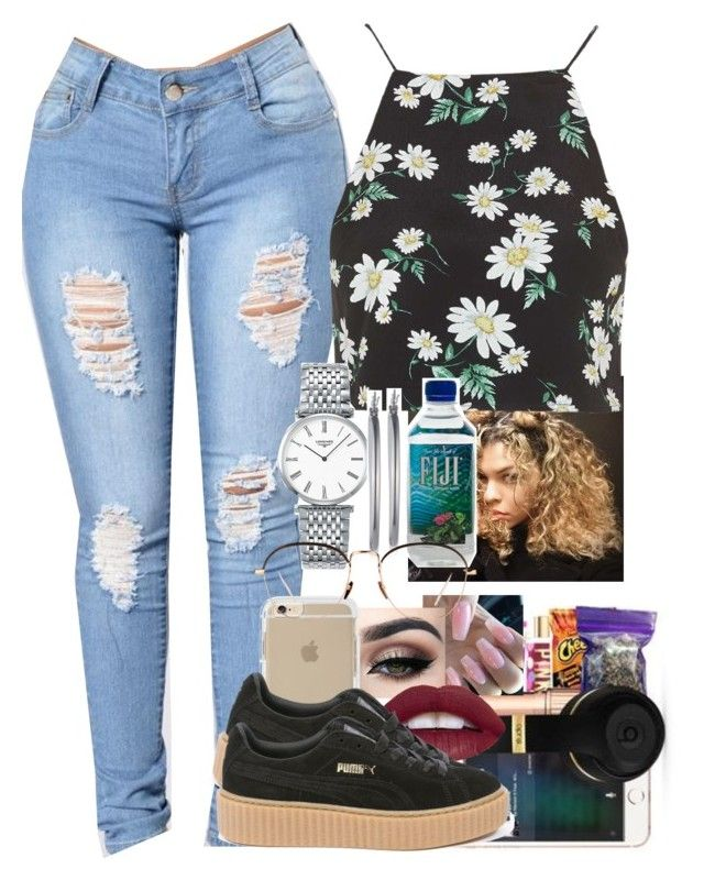 """""""Untitled #35"""" by ayoo-tj ❤ liked on Polyvore featuring Topshop, Longines, Nine West, Linda Farrow and Puma"""