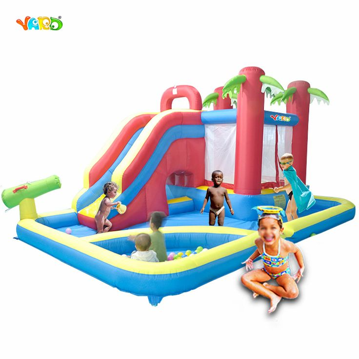 YARD Kids Outdoor Play Water Park Inflatable Slide Combo Summer Swimming Pool Bouncy Castle Ball Pit Children Toys
