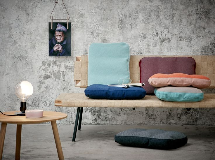 Beautiful daybed with Danish designed pillows from PYTT Living