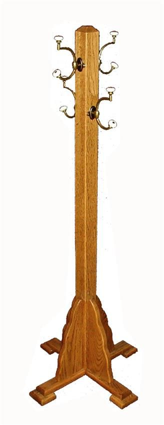 Amish Kid's Wooden Coat Stand Rack Made for small hands to reach, this Amish made coat rack is just for the kids.