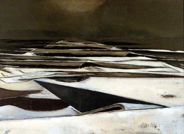 PAUL NASH Winter Sea (1925-37) Have loved this ever since I saw it in York Art Gallery. The personification of the cold North Sea.