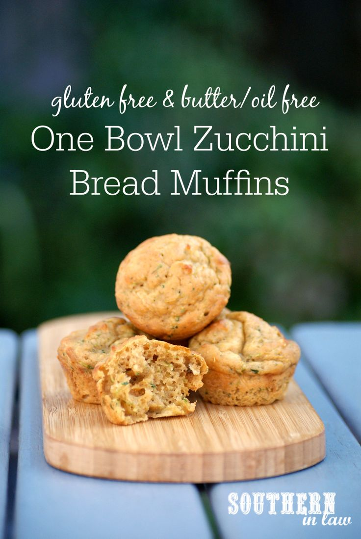 This One Bowl Zucchini Bread Muffins Recipe is healthy, gluten free and made without any butter or oil. A delicious clean eating recipe that is low fat, gluten free, butter free, oil free, refined sugar free and so easy to make. The perfect snack or dessert and freezer friendly too!