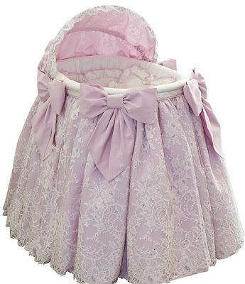 Vintage inspired royal baby bassinet with Swarovski Crystals!
