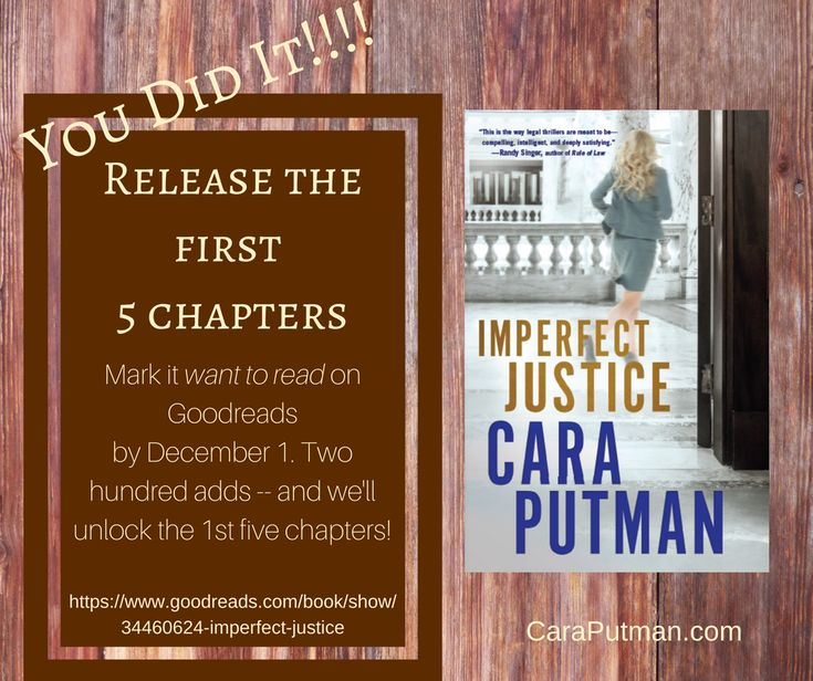 You did it! First 5 chapters of Imperfect Justice | caraputman.com