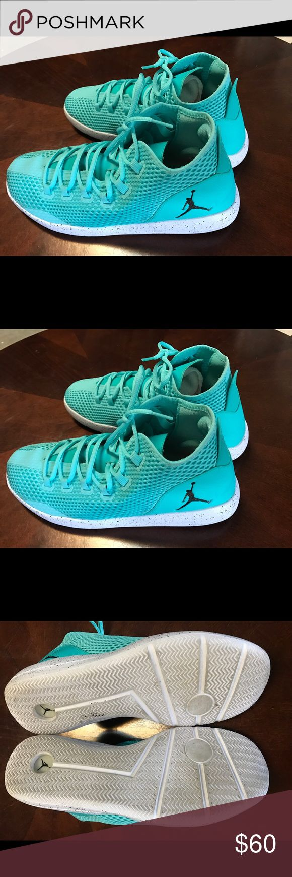 Nike Men's Michael Jordan Basketball Shoes Sz 13 Nike Men's Turquoise Michael Jordan Basketball Shoes Size 13 Men's Excellent condition and well kept. Comes from a clean non smoking environment. Combined shipping is always welcome. Air Jordan Shoes Sneakers