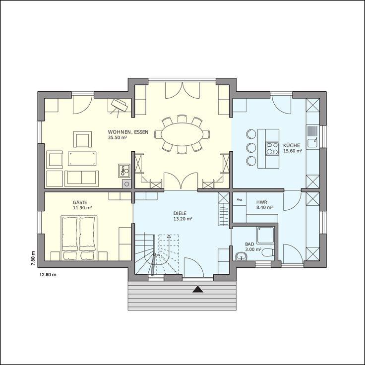 die 25 besten ideen zu haus grundrisse auf pinterest etagenpl ne haus haus blaupausen und. Black Bedroom Furniture Sets. Home Design Ideas