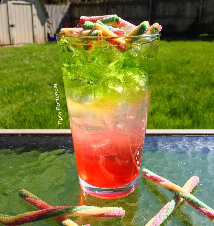 3 Color Cycle Cocktail - For more delicious recipes and drinks, visit us here: www.tipsybartender.com