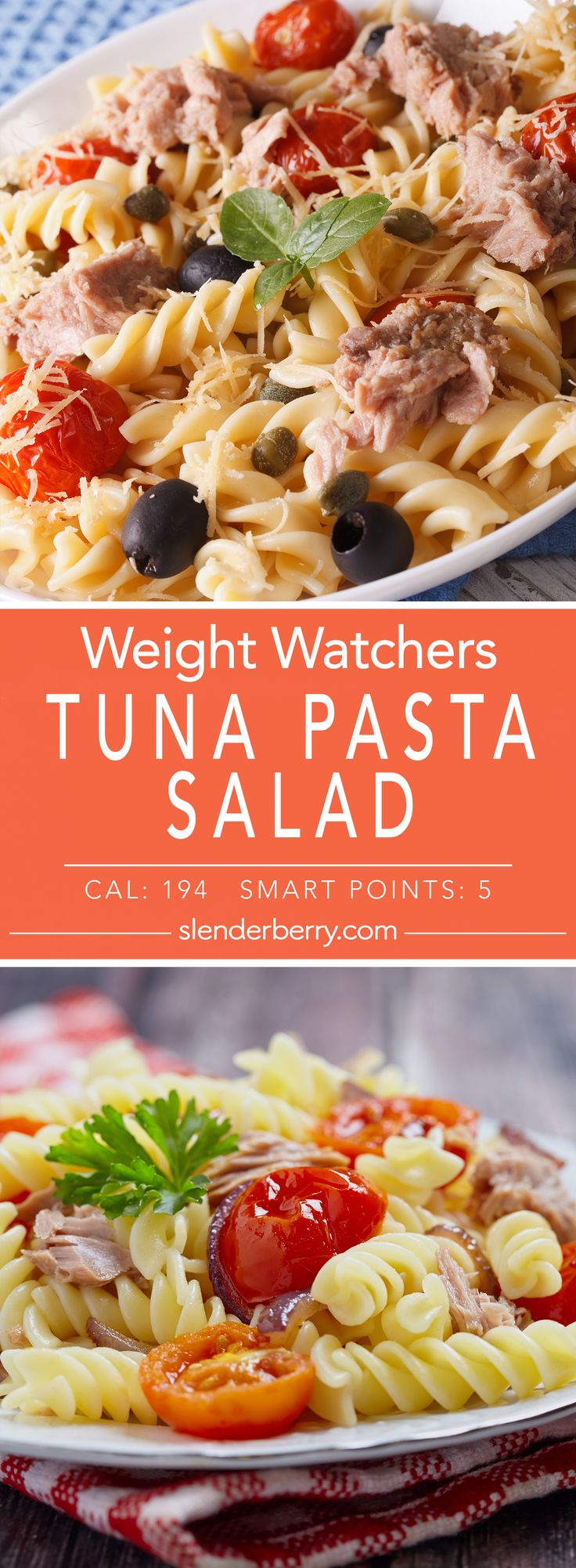 Weight Watchers Skinny Spicy Tuna Pasta Salad Recipe with 5 Smart Points - 194 Calories