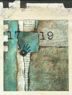 Collage art of Laura Lein-Svencner: Prayer Flag 3