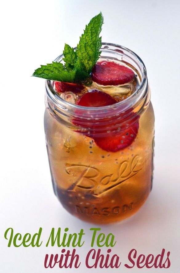 mint iced tea: chia seeds!- add chia seeds to drinks for added omega 3s and protein?!