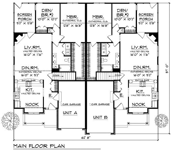 Multigenerational House Plans | House Plan ID: Chp 24799    COOLhouseplans.com |