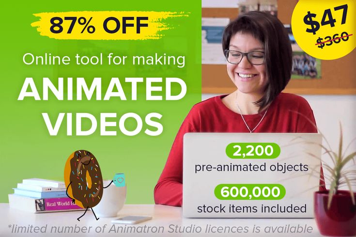 Create Animated Videos and Whiteboard Animations with Animatron - 87% off!