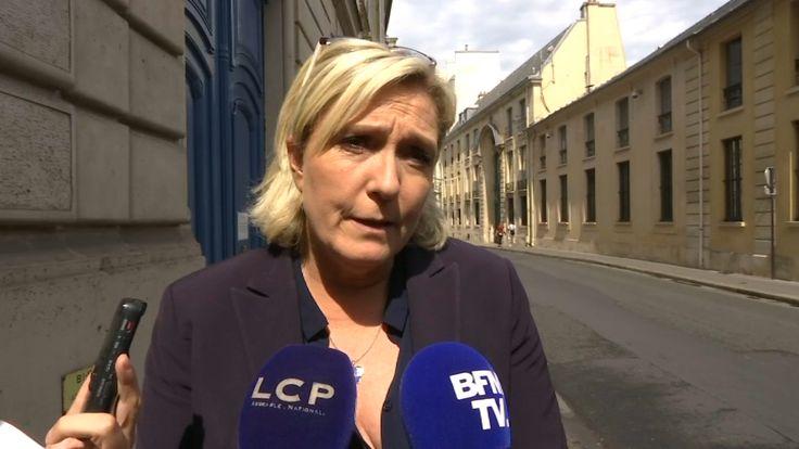 """""""Une nouvelle inquiétante"""". Marine Le Pen réagit à la démission du chef d'état-major"""