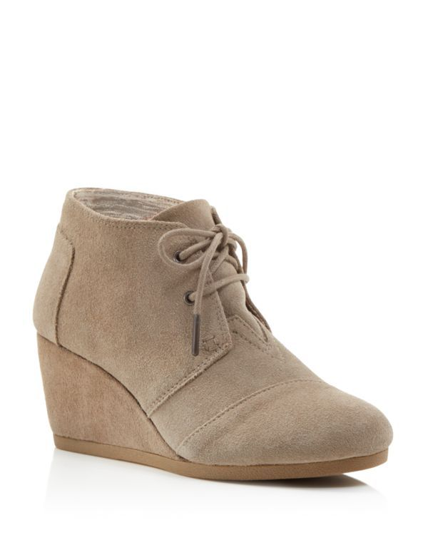 I would prefer these in Tan color --TOMS Suede Desert Wedge Booties | Bloomingdale's