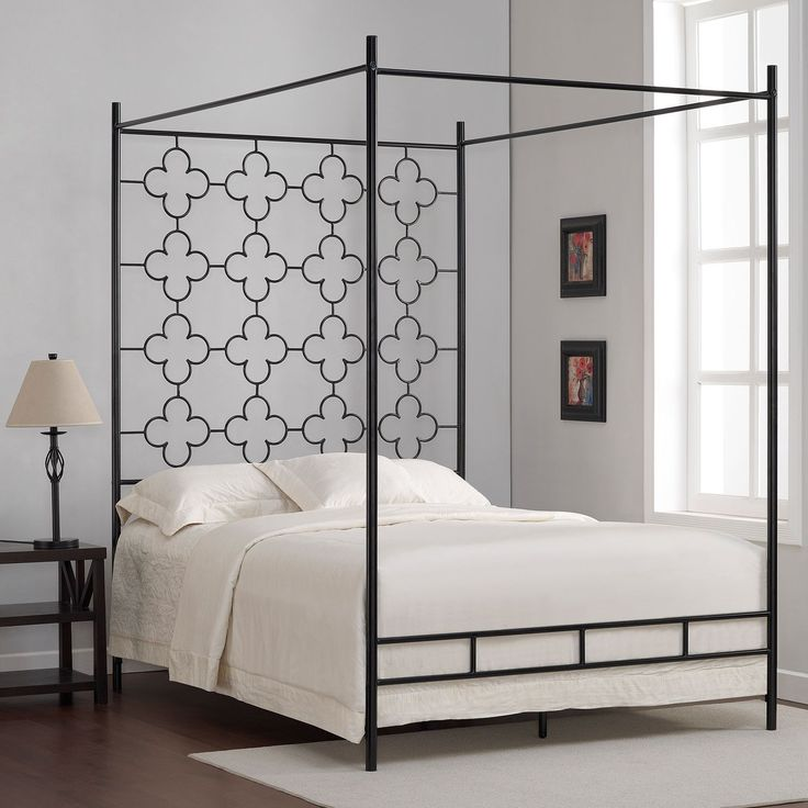 Quatrefoil Full Canopy Bed & Best 25+ Black canopy beds ideas on Pinterest | Modern canopy bed ...