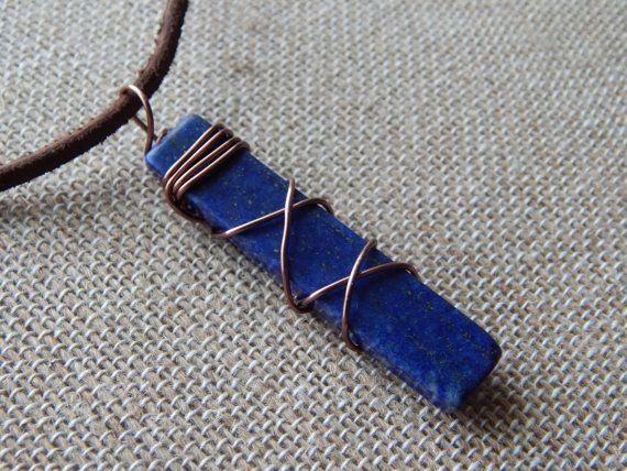Lapis Lazuli Lapis Pendant Jewelry for Men by UniqueChiqueJewelry, $17.00