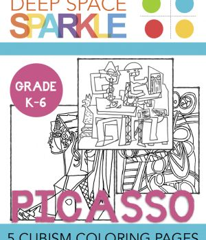 Picasso Coloring pages & Drawing Guides. #picasso #kidsart