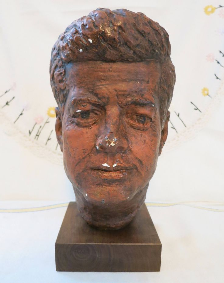 Vintage 1964 Austin Prod John F Kennedy Bust Sculpture, Vintage JFK Head, John F Kennedy Bust, JFK President Statue, JFK President Statue by RubysCollectibles on Etsy