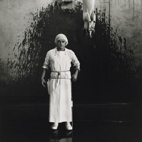 Ronny Lewis, labourer, abattoir pig chain, Christchurch 1982 Glenn Busch