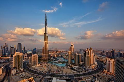 Picture by DANIEL CHEONG: A clear view of Emaar boulevard which surrounds Burj Khalifa in Downtown Dubai  Location: Downtown Dubai Creation: 2012