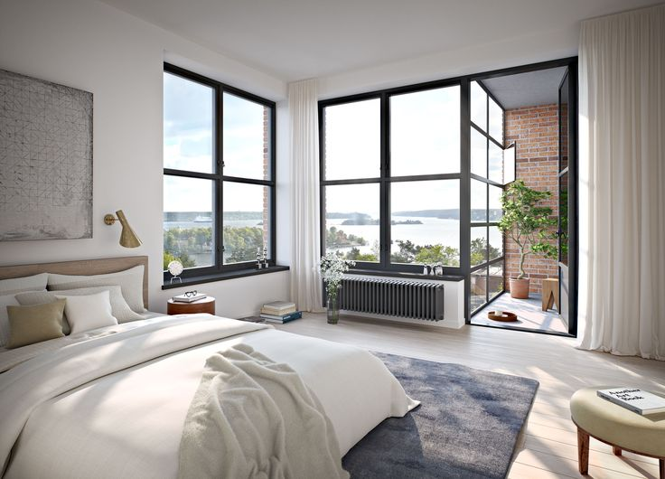 Oscar Properties  #oscarproperties  bedroom, windows, view, bed, flowers, interior, design