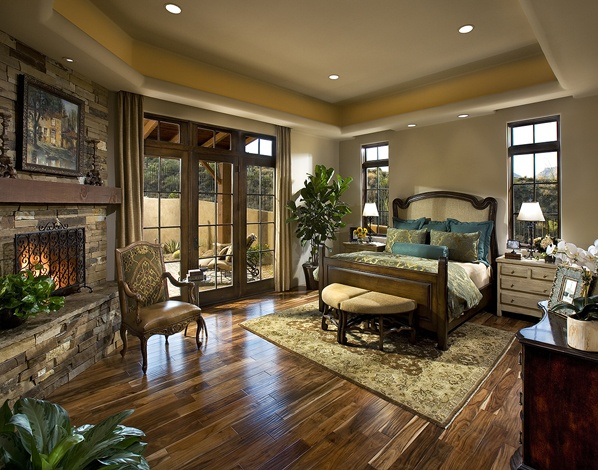 pretty southwest ranch style bedroom i like the turquoise